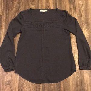 LOFT dark grey blouse (size XS)